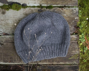 Stone Slouch Knit Beanie