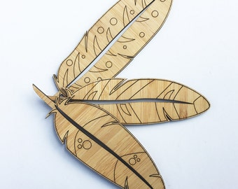 Bamboo Feathers  (set of 3)