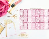 February 2017 Lace Halfbox Stickers | Planner Stickers designed for use with the Erin Condren Life Planner