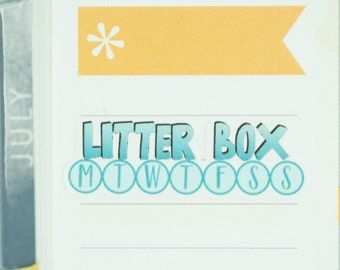 36 litter box Stickers | Planner Stickers designed for use with the Erin Condren Life Planner | 0664