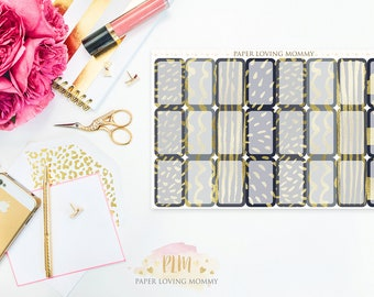 July 2017 Halfbox Stickers   Planner Stickers designed for use with the Erin Condren Life Planner