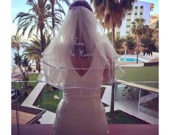 Future Mrs Bridal Hen Party Veil