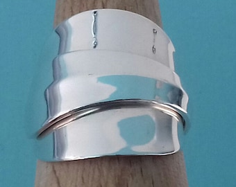 Sterling silver Vintage 1963 teaspoon ring size S