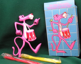 1979 Pink Panther Toothbrush Holder with toothbrushes - AVON unused, original box