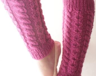 Jambières bambin tricotés à la main - Chaussettes d'yoga bébé, bambin gaiters