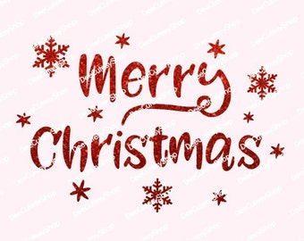 Merry Christmas Iron On, Non-Shed Glitter, Red Glitter, Merry Christmas, Iron-on, Baby, Adult, Transfer, NOT DIGITAL, Iron On Decal