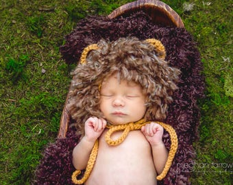 Baby Lion Outfit - Animal Hat - Baby Gift - Safari Nursery - Tribal Nursery - Baby Boy Picture Outfit - Woodland Nursery - Baby Shower Gifts