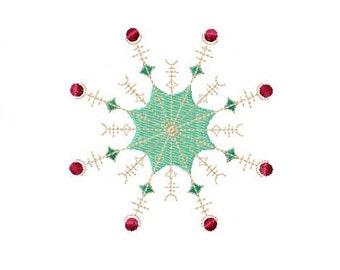 Snowflake Embroidery Design - Snowflake Design - Snowflake Embroidery - Winter Embroidery - 4x4 Hoop - Christmas Embroidery - Winter Design