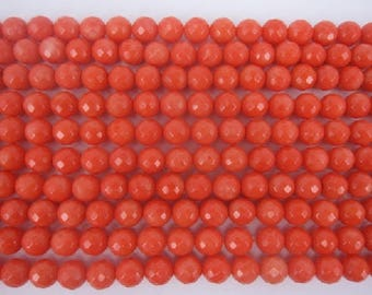 6mm orange  bamboo coral