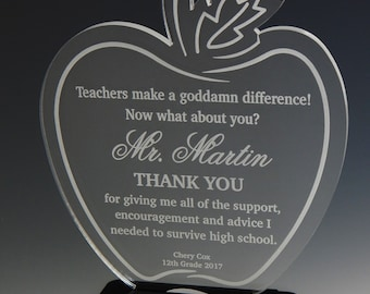 Teacher Custom Appreciation Gift,Gift to an Awesome Teacher,Thank you Gift to Teacher,Teacher Appreciation Week Gift,Teacher Award ATA007