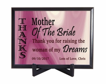Mother of the Bride Gift from Groom, Custom Gift to Mother in Law, Wedding Thank you Gift for Mother in Law,Parents of the Bride Gift,PWH003