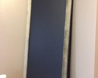 Long barnwood chalkboard 22x54