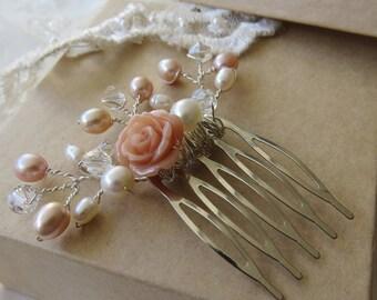 Bridal hair comb, wedding hair comb, bridal headpiece, bridal hair accessories, wedding comb, hair comb, bridesmaids hair comb
