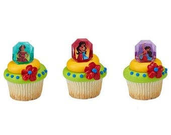Elena of Avalor Cupcake Rings Noble Heart Set of 12 for cakes or cupcakes