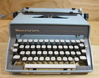 1960's Remington Rand Quiet Riter Eleven Manual Portable Typewriter For Props or Display