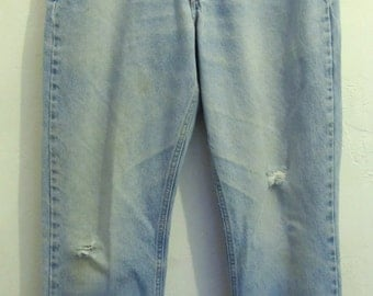 Marked Down@@Men's,Faded Vintage 90's,TRASHY Blue Reg Fit Jeans By CARHARTT.33x30