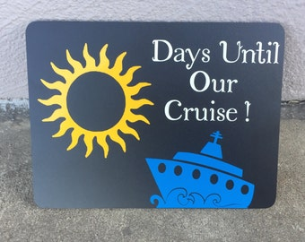 Chalkboard Cruise Countdown Board