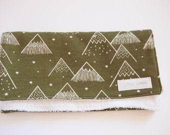 Khaki Teepee Burp Cloth