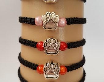 Paw print bracelet - cat paw bracelet - dog paw bracelet - pet bracelet - pet jewelry - paw print jewelry - pet memorial - paw print charm