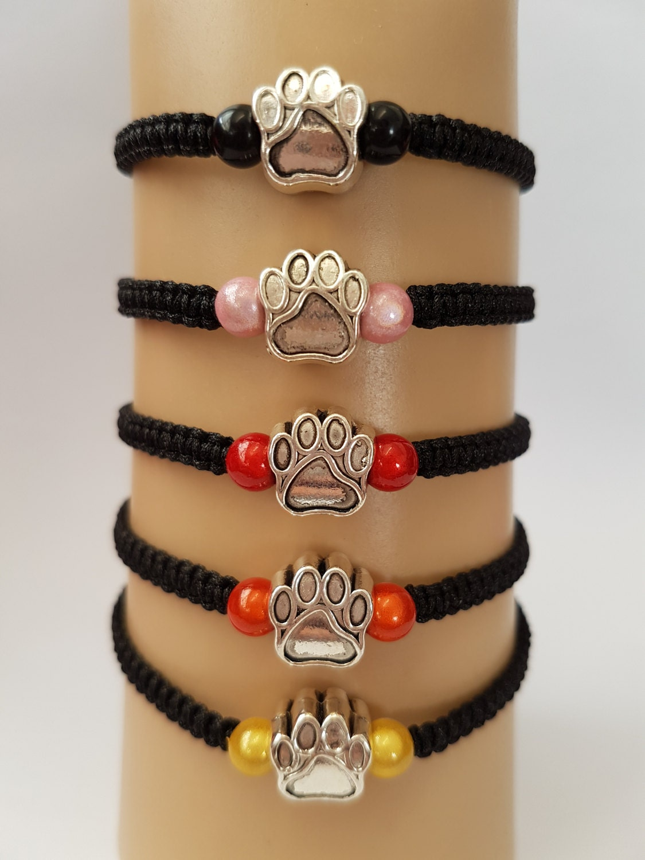 Paw print bracelet cat paw bracelet dog paw bracelet pet