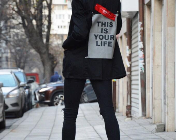 Oversize Black Stylish Blazer, High Quality Trench Coat, Extravagant Woman Buttoned Blazer by SSDfashion