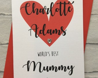 Personalised Handmade Birthday/Mothers Day Card (World's Best Mummy Since...)