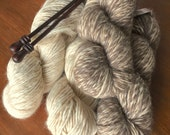 Custom Order for FM. Knit scarf in undyed baby alpaca and undyed merino wool