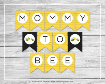 Bumble Bee Baby Shower Banner - Printable Baby Shower Banner - Bumble Bee Baby Shower - Baby Shower Banner - Bee Baby Banner - SP138