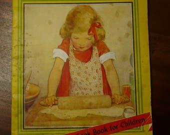 Vintage Cook Book for Children Kitchen Fun