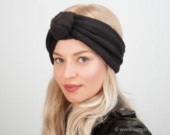 Black Velvet Turban Headband