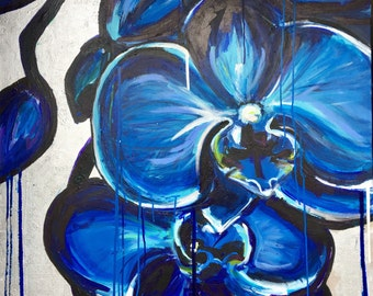 """SOLD  36""""x36"""" """"Kats Orchid"""""""
