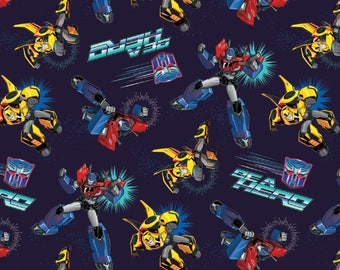 Hasbro Transformers Robots Autobots Be A Hero Premium 100% Cotton fabric (In Stock)