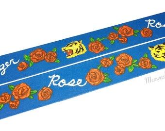 Mind Wave - Tiger and rose washi tape (T01069)