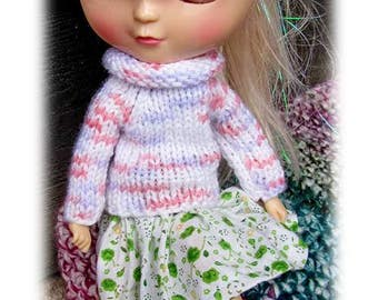 4 x Blythe doll sweater on, free shipping