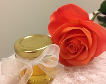 Honey wedding/party favors/ 24 hex/oval hex honey jars