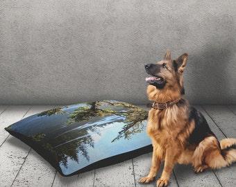 Tree Dog Pillow | Pet Bed | Outdoor Dog Bed | Modern Dog Bed | Cat Bed | Blue Dog Bed | Washable Dog Bed | Durable Dog Bed | Pet Pillow