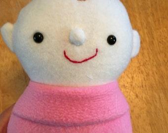 softie doll, fleece, safety eyes, washable