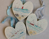 Trio of boating hearts...