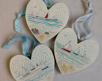Trio of boating hearts