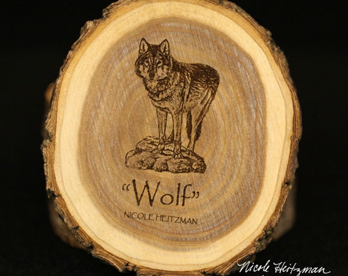 Christmas Gifts for men Dad Wolf coaster Wood Art Wooden Coaster Man Cave Decor Lodge Decor dog Coaster Wood Coasters by Nicole Heitzman