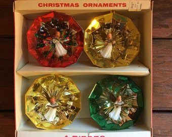 Jewelbrite Christmas Tree Ornaments / Singing Angels / Set of Four / In Original Box