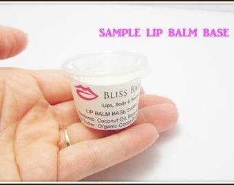 Organic Sample Lip Balm Base 1/2 oz Unsweetened lip balm Supplies DIY how to make Lipbalm Beeswax Best Fresh Make your own Lip Balm homemade