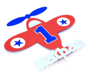 Airplane Cake Topper | Custom Airplane Cake Topper | Name Airplane Cake Topper | Airplane Party Decorations