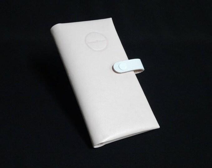 Billfold-16 Wallet - Light Pink - Kangaroo leather phone wallet with RFID Credit Card blocking - Handmade - James Watson