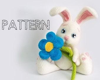 Easter Bunny Crochet Patterns, Amigurumi Animals Crochet Tutorial, Rabbit Baby Stuffed Toys, Amigurumi Dolls Tutorial,Flower bunnies sheeps