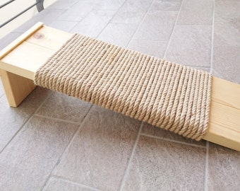 Cat Scratcher Large, Cat Scratching post made of recycled wood and Sisal rope