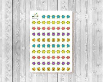 S140 - 78 Flower Dots Planner Stickers
