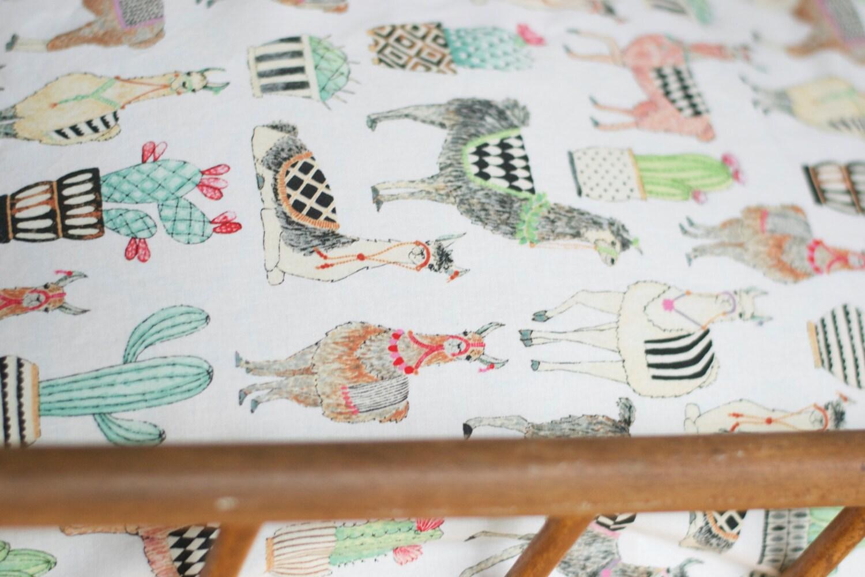 Llama Crib Bedding Llama Changing Pad Cover Llama Crib