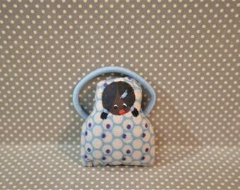 Charles decorated blue poupette