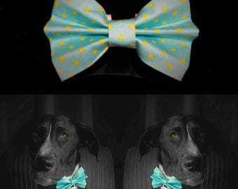 Lunar Dog Bow Tie - Blue